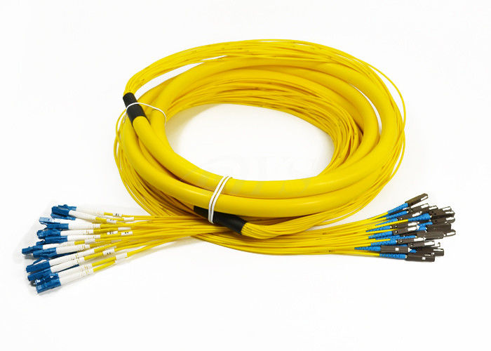 24 Core Distribution Jumper Optical Fiber Patch Cord , Fiber Optic Patch Cords आपूर्तिकर्ता