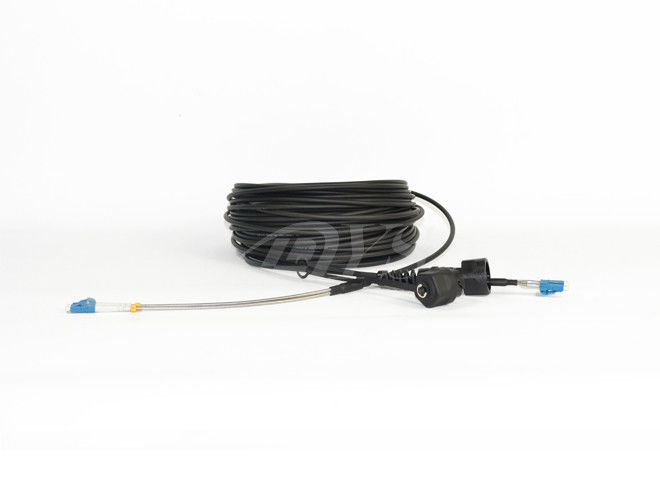 चीन ODVA / LC Armored Fiber Optic Cable Assemblies With 7.0mm / 4.8mm Jacket आपूर्तिकर्ता