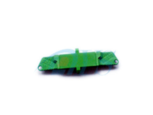 चीन E2000 APC Fiber Channel Channel Adapter In Green , Insertion Loss 0.2dB / 0.3db आपूर्तिकर्ता