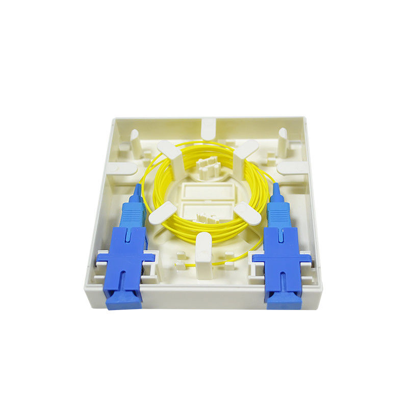 High Quality Fiber Optic 2 core FTTH mini fiber optic terminal box आपूर्तिकर्ता