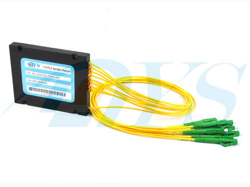चीन 1 × 8 PLC SC / APC Optical Fiber Splitter Singlemode For Data Communication आपूर्तिकर्ता